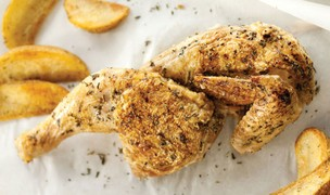 Half Chicken with Thyme, Salt and Pepper